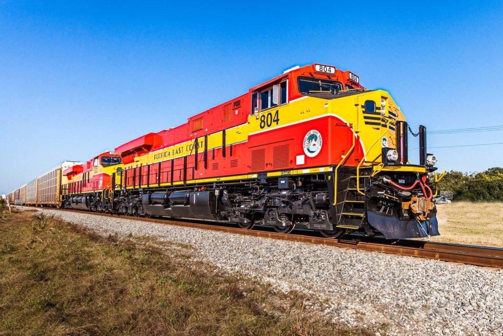 FECR Train that runs past American Icon Brewery