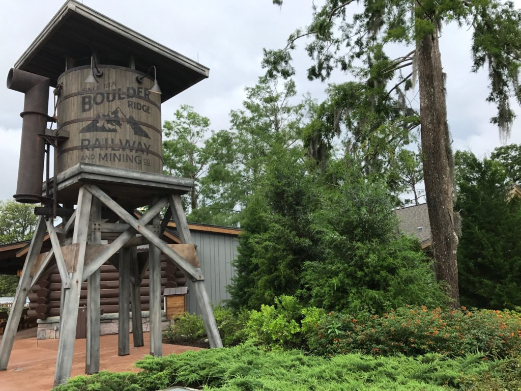Water tower at Disney's Copper Creek at Wilderness Lodge on tour