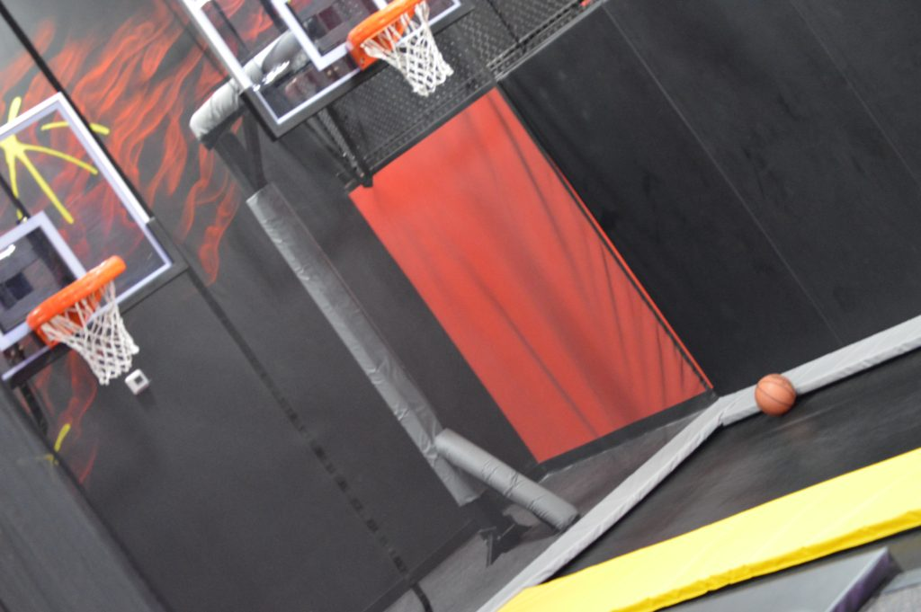 Defy Orlando basketball rims with trampolines