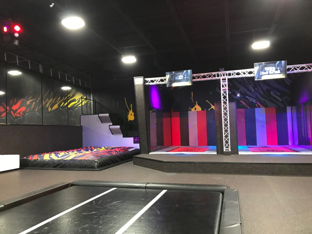 trampolines with walls