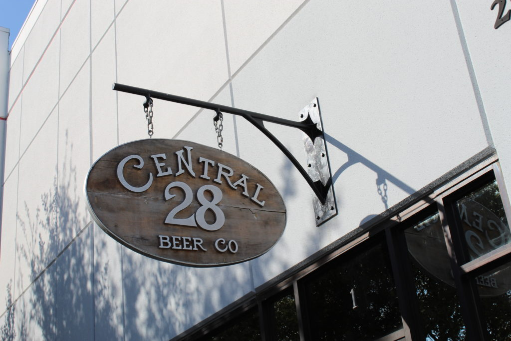 Central 28 Beer Co sign