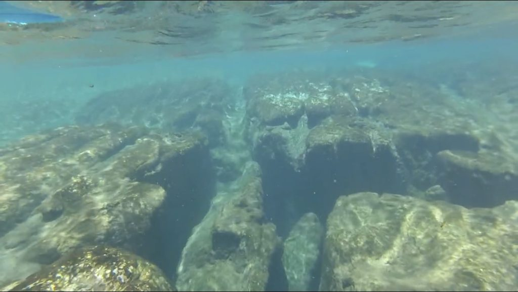 snorkeling underwater view of rock formation
