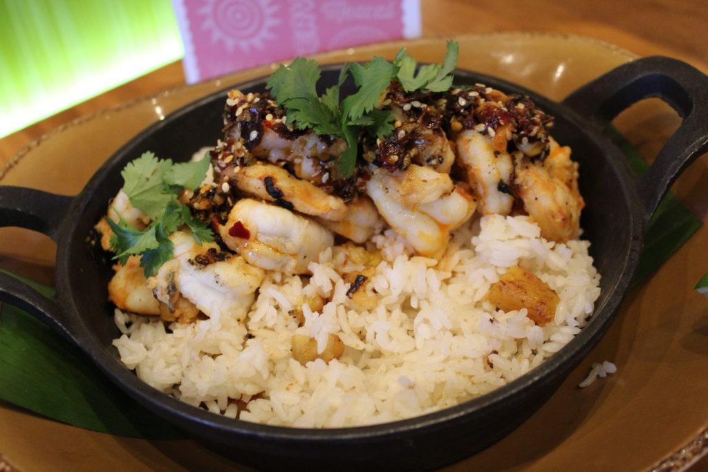 Grilled Florida Pink Shrimp on the new seasonal menu at Frontera Cocina