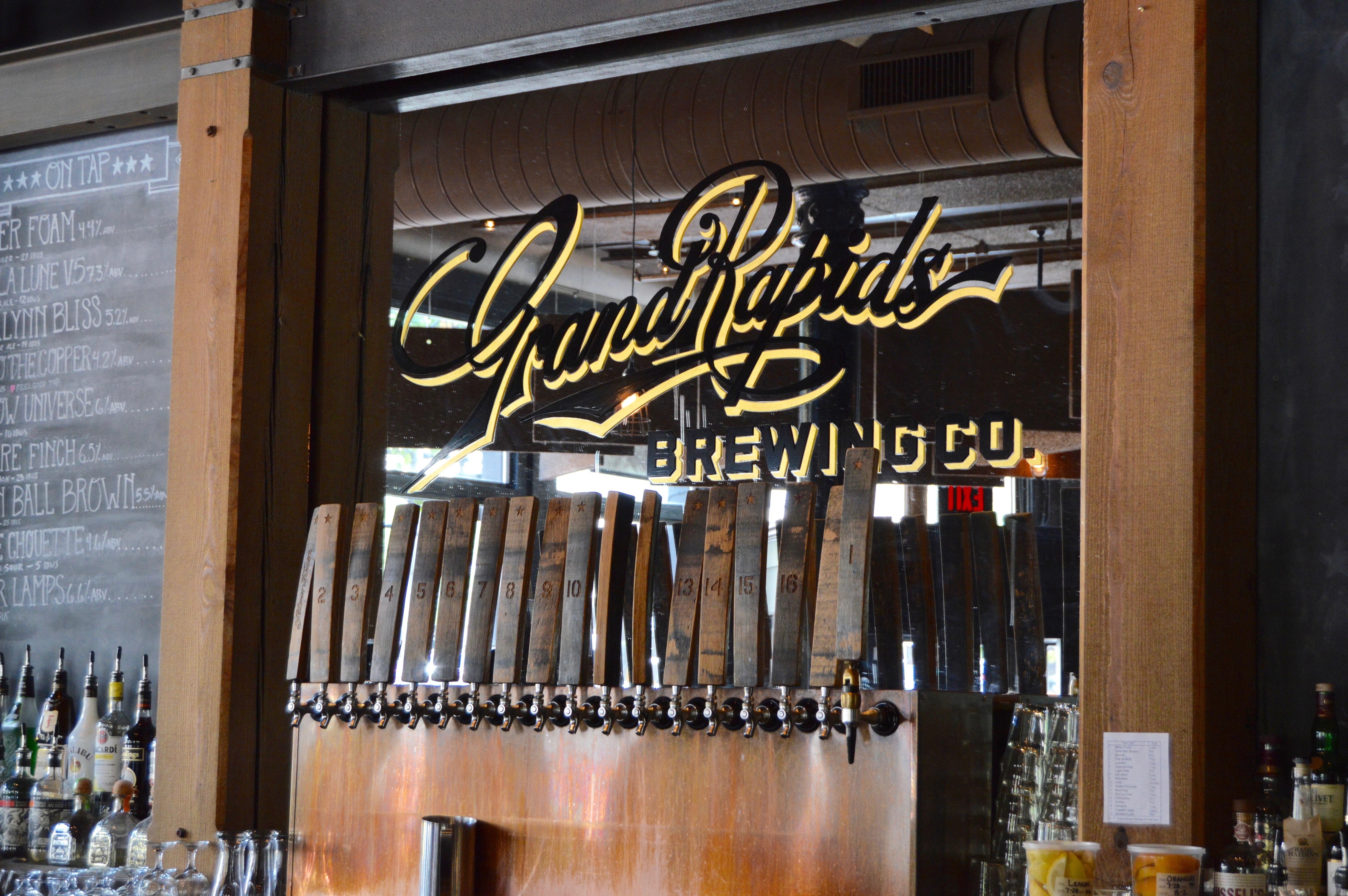 Grand Rapids Brewing beer taps