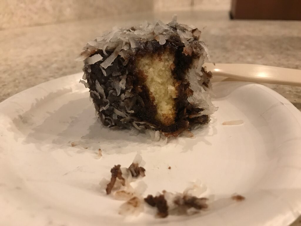 Lamington dessert from Epcot