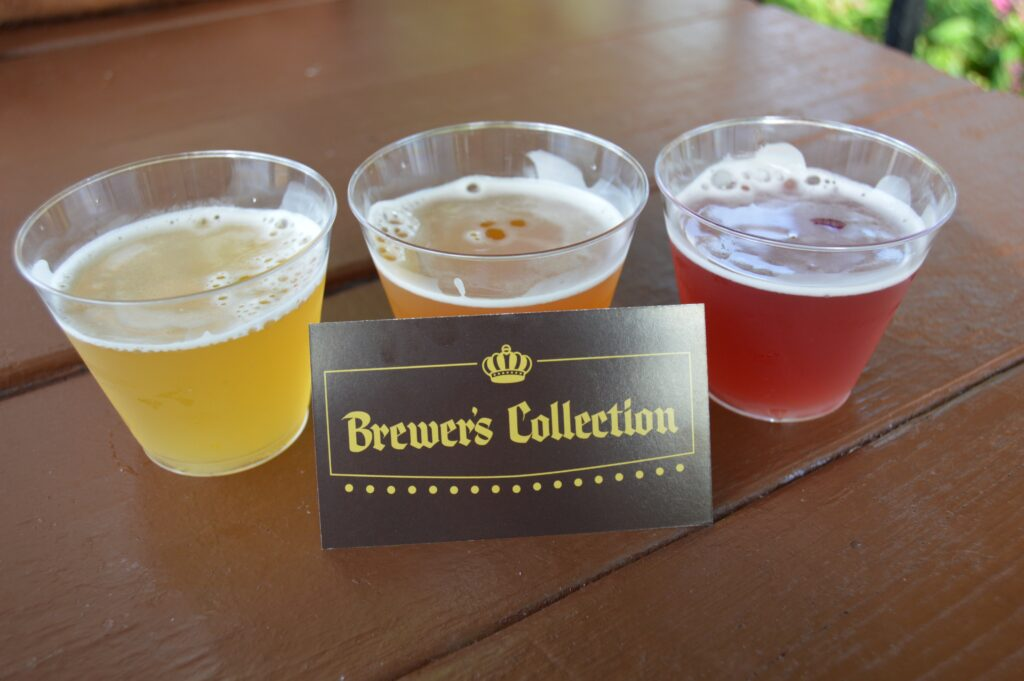 Beer flight from Brewer's Collection at Epcot Food & Wine Festival