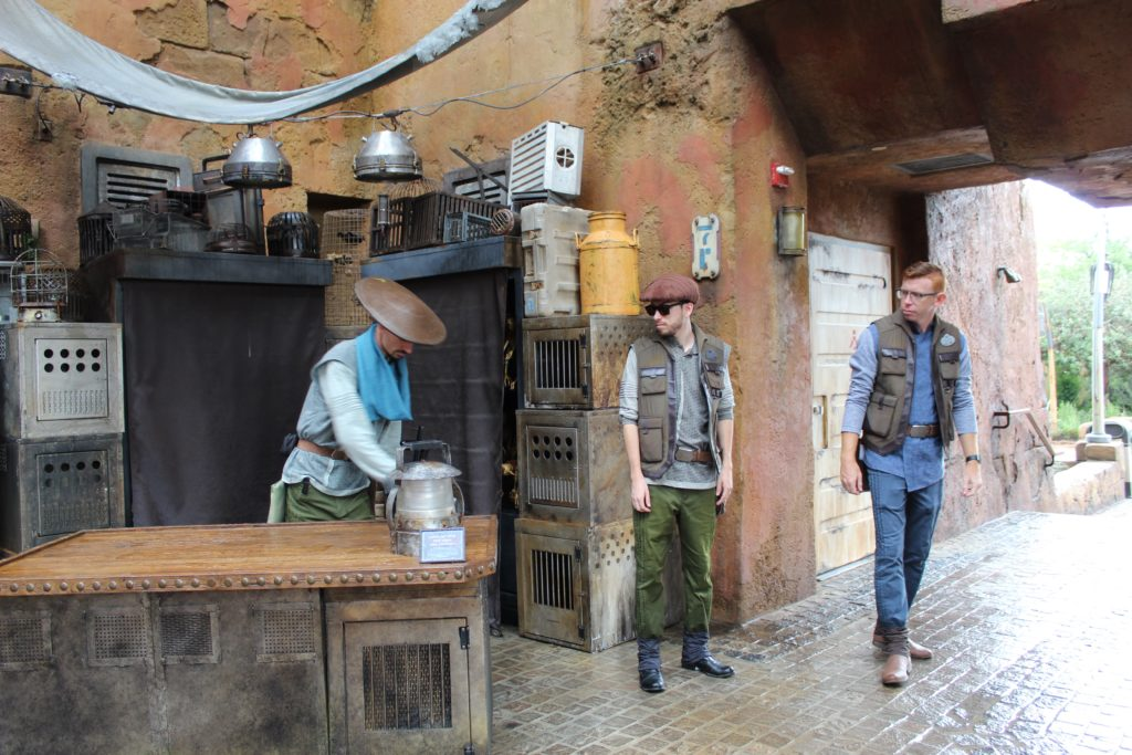 Cast members in Batuu Star Wars Land