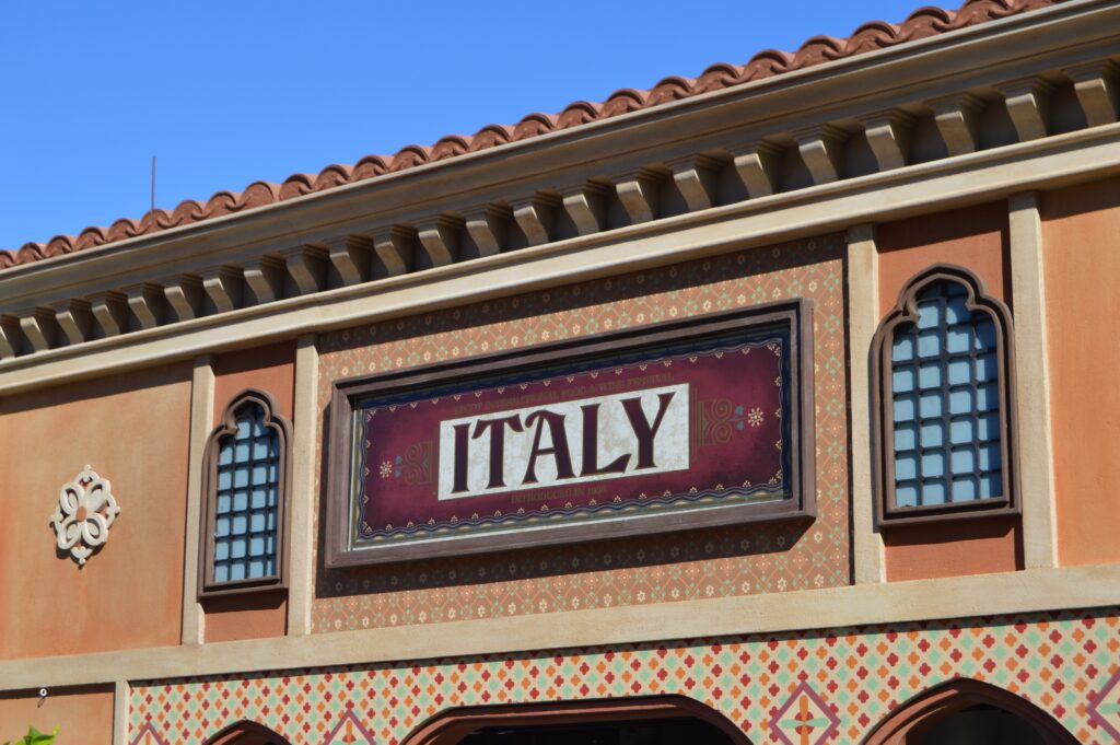 Italy food booth at Epcot