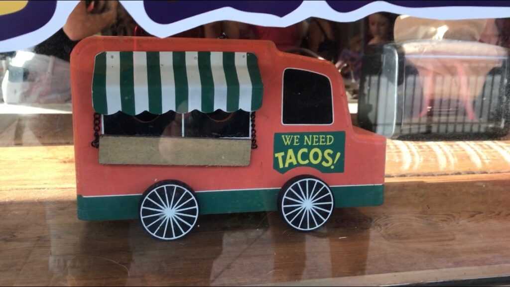 Taco food truck toy truck