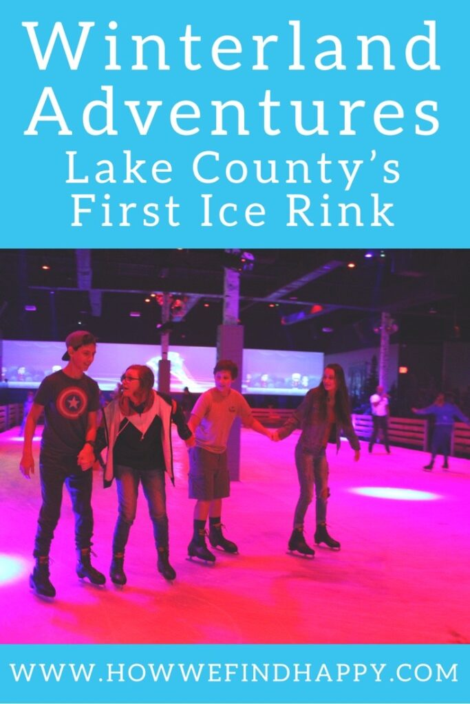Pinterest graphic with teens ice skating