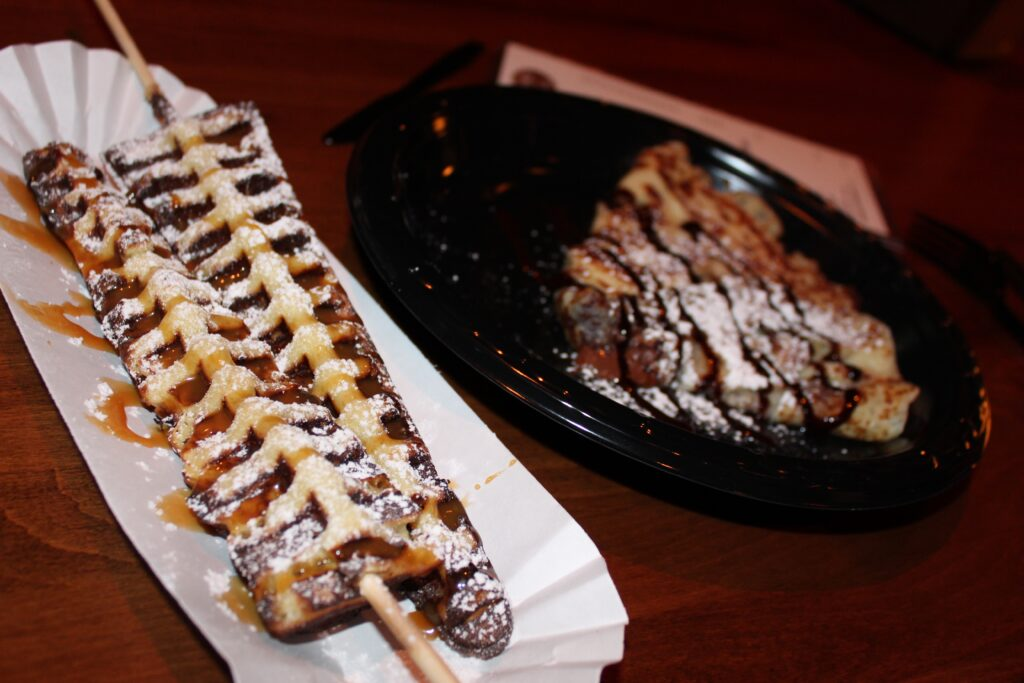 WaffStix and crepe from LeChalet