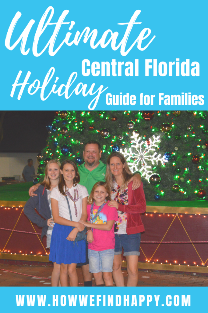Pinterest graphic for Ulitmate Central Florida Holiday guide for families